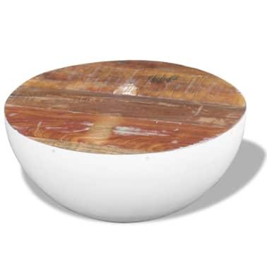 vidaXL Dubens formos kavos staliukas, perdirbta mediena, 60x60x30 cm[4/6]