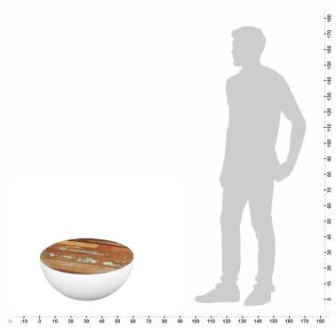 vidaXL Dubens formos kavos staliukas, perdirbta mediena, 60x60x30 cm[6/6]