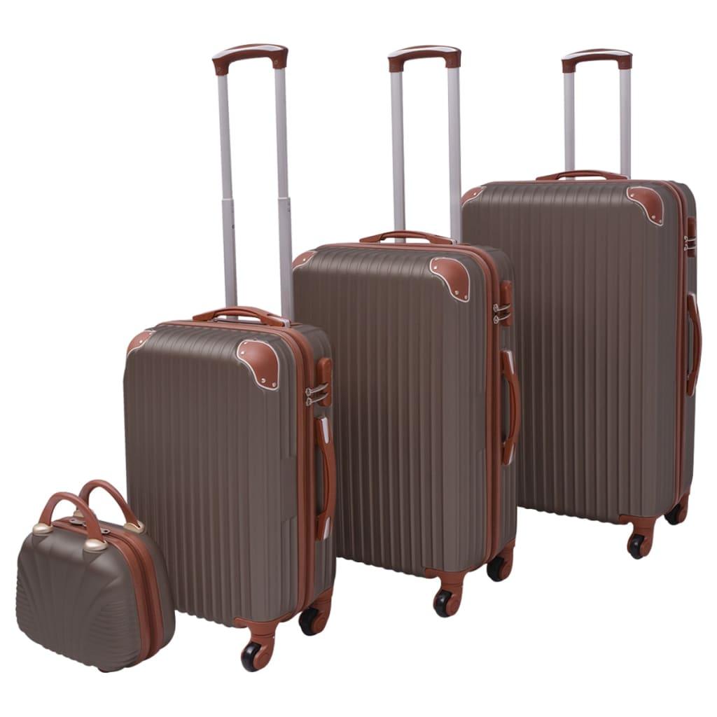 vidaXL Set de valize, cafeniu, 4 buc. vidaxl.ro