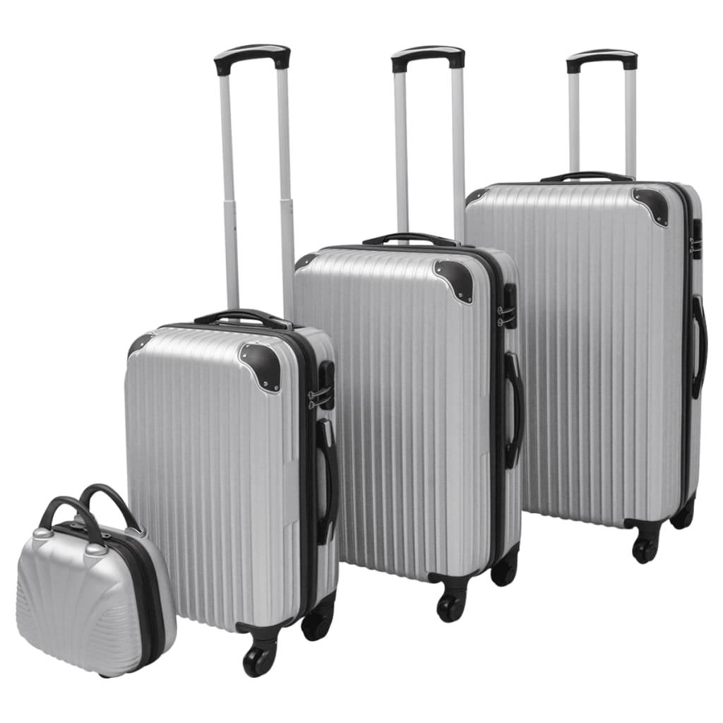 vidaXL Set de valize, argintiu, 4 buc. vidaxl.ro