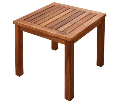 vidaXL Sun Loungers 2 pcs with Table Solid Acacia Wood and Textilene[8/10]