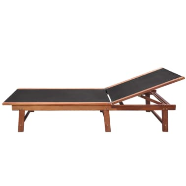 vidaXL Sun Loungers 2 pcs with Table Solid Acacia Wood and Textilene[4/10]