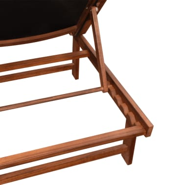 vidaXL Sun Loungers 2 pcs with Table Solid Acacia Wood and Textilene[6/10]