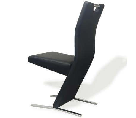 vidaXL Chaises de salle à manger 6 pcs Noir en cuir artificiel[6/8]