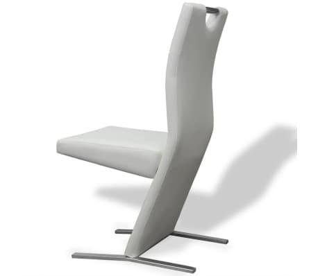 Vidaxl sedie sala da pranzo 4 pezzi in pelle sintetica for Sedie in pelle per sala da pranzo