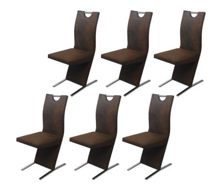 vidaxl esszimmerst hle 6 stk stoff braun g nstig kaufen. Black Bedroom Furniture Sets. Home Design Ideas