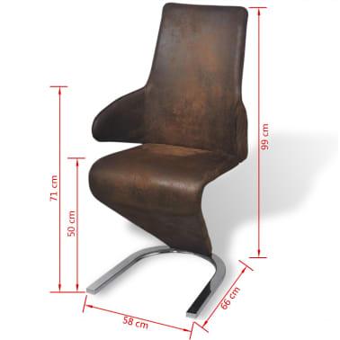vidaxl esszimmerst hle freischwinger 6 stk stoff braun. Black Bedroom Furniture Sets. Home Design Ideas