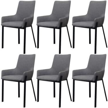 Vidax sedie per sala da pranzo 6 pezzi in stoffa grigio chiaro - Sedie per sala da pranzo prezzi ...