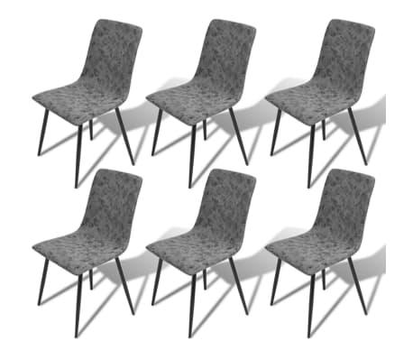 Vidaxl sedie per sala da pranzo 6 pezzi in pelle sintetica for Sedie per sala da pranzo in pelle