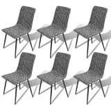vidaXL Dining Chairs 6 pcs Artificial Leather Dark Grey