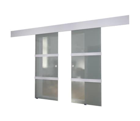 vidaXL Double Sliding Door Glass