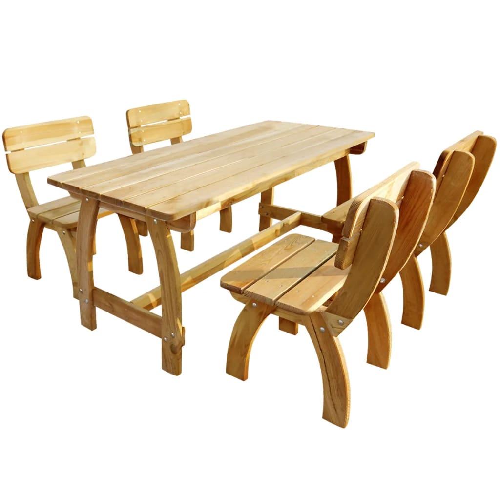 vidaXL Zahradní nábytek jídelní set, 5 kusů, impregnovaná borovice
