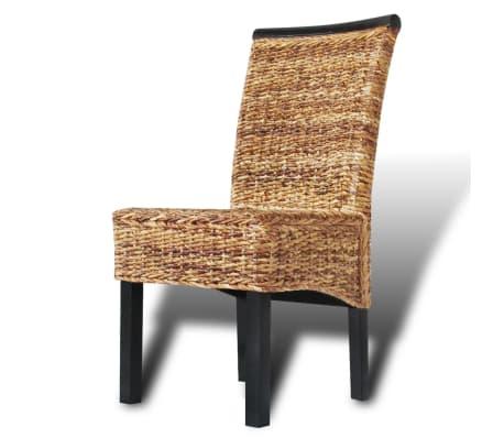 vidaXL Dining Chairs 2 pcs Abaca Brown[4/9]