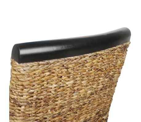 vidaXL Dining Chairs 2 pcs Abaca Brown[8/9]