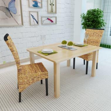 vidaXL Dining Chairs 2 pcs Abaca Brown[3/9]