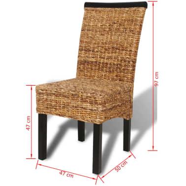 vidaXL Dining Chairs 2 pcs Abaca Brown[9/9]