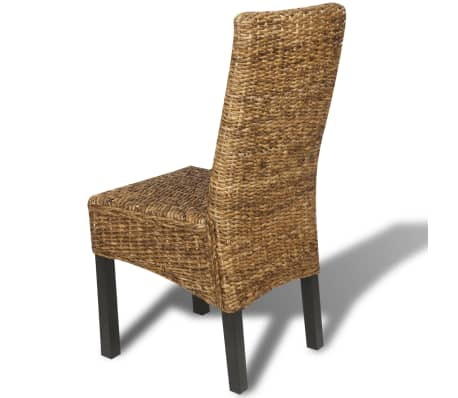 vidaXL Dining Chairs 2 pcs Abaca and Solid Mango Wood[5/10]