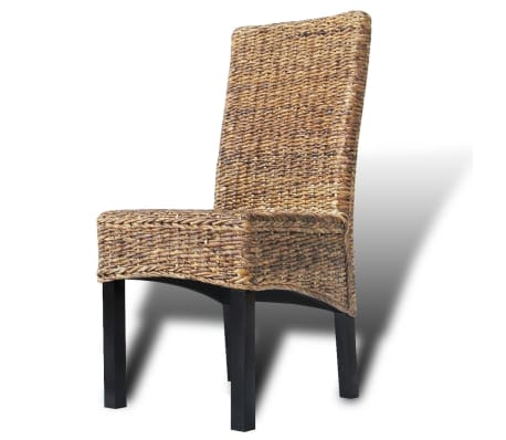 vidaXL Dining Chairs 2 pcs Abaca and Solid Mango Wood[8/10]