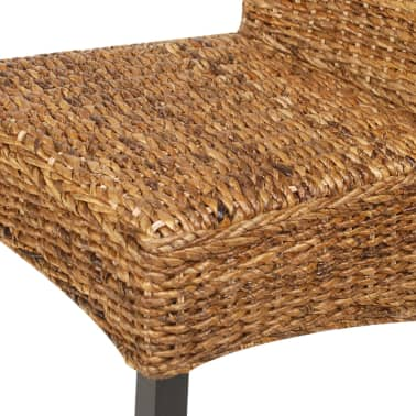 vidaXL Dining Chairs 2 pcs Abaca and Solid Mango Wood[7/10]