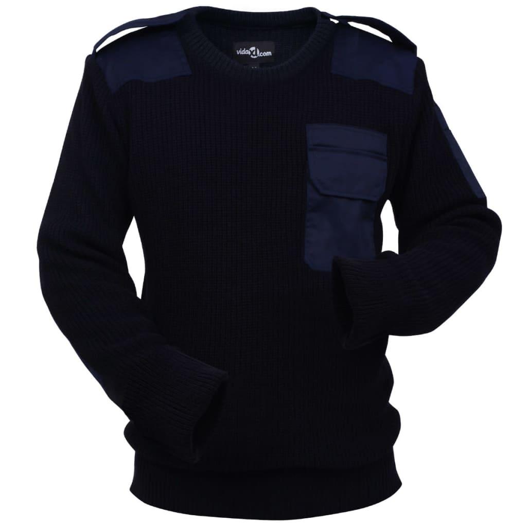 vidaXL Pánské pracovní svetry 3 ks tmavě modrá vojenská zelená černá M 569b93fbd5