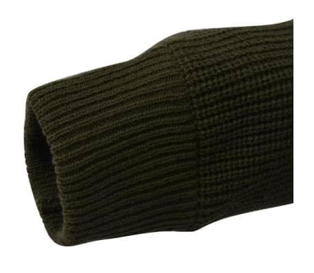 vidaXL Pánské pracovní svetry 3ks tmavě modrá vojenská zelená černá XXL 7  1a574619b5