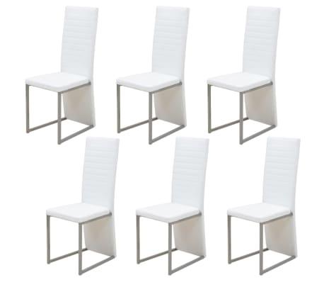 Vidaxl 6 pz sedie per sala da pranzo bianche - Sedie per sala da pranzo prezzi ...
