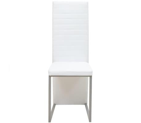 Vidaxl 6 pz sedie per sala da pranzo bianche for Sedie sala da pranzo prezzi