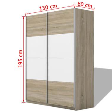 Acheter vidaxl armoire avec 2 portes coulissantes blanc brillant 150 cm pas cher - Armoire 150 cm ...