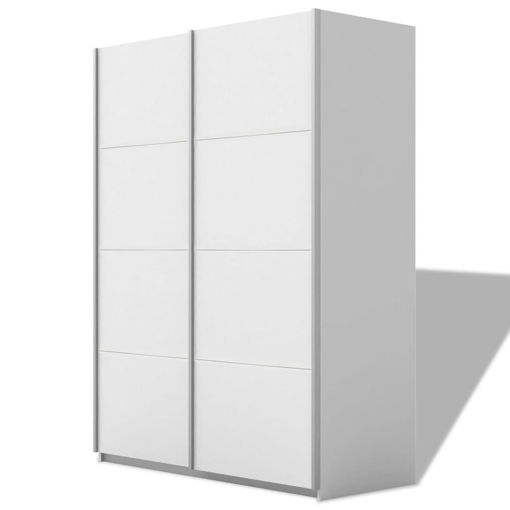 Afbeelding van vidaXL Kledingkast met 2 schuifdeuren mat wit 200 cm