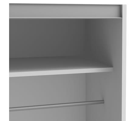 vidaxl kleiderschrank mit 2 schiebet ren mattwei 150 cm. Black Bedroom Furniture Sets. Home Design Ideas