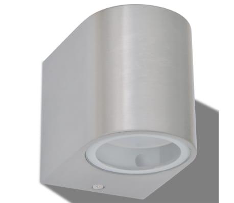 vidaXL LED-seinävalaisimet ulkotiloihin 2 kpl Pyöreä Alaspäin[4/8]
