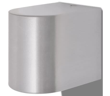 vidaXL Lauko LED sienin. šviestuvai, 2 vnt., apvalūs, šviesa į apačią[5/8]