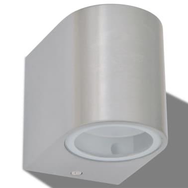 vidaXL Lauko LED sienin. šviestuvai, 2 vnt., apvalūs, šviesa į apačią[4/8]