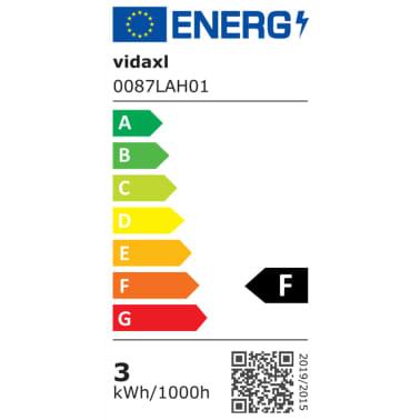 vidaXL LED-seinävalaisimet ulkotiloihin 2 kpl Pyöreä Alaspäin[7/8]