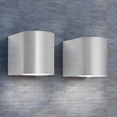 vidaXL LED-seinävalaisimet ulkotiloihin 2 kpl Pyöreä Alaspäin[1/8]