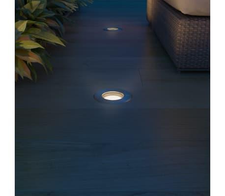 vidaXL Iluminação LED p/ piso exterior 3 pcs redondo[3/9]