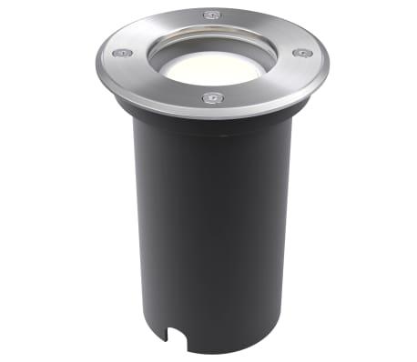 vidaXL Iluminação LED p/ piso exterior 3 pcs redondo[5/9]