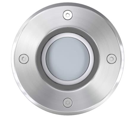 vidaXL Iluminação LED p/ piso exterior 3 pcs redondo[7/9]