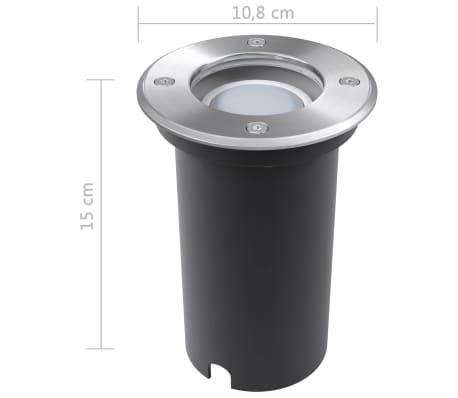 vidaXL maapinna LED-valgustid 3 tk ümmargused[8/9]