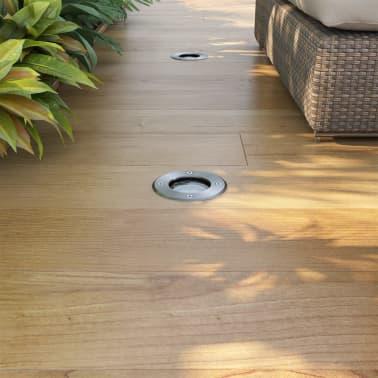vidaXL Iluminação LED p/ piso exterior 3 pcs redondo[2/9]