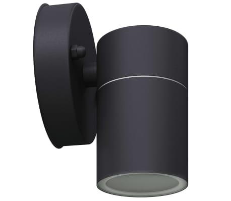 vidaXL Lauko LED sien. šviest., 2vnt., nerūd. plienas, šviesa į apačią[5/8]