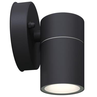 vidaXL Lauko LED sien. šviest., 2vnt., nerūd. plienas, šviesa į apačią[4/8]