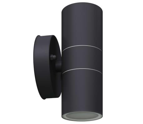 vidaXL Lauko LED sien. šviest., 2vnt., nerūd. plienas, į viršų/apačią[5/8]