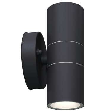 vidaXL Lauko LED sien. šviest., 2vnt., nerūd. plienas, į viršų/apačią[4/8]