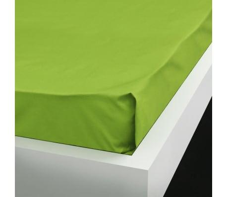 vidaXL Lakan 2 st bomull 240x260 cm äppelgrön[2/4]