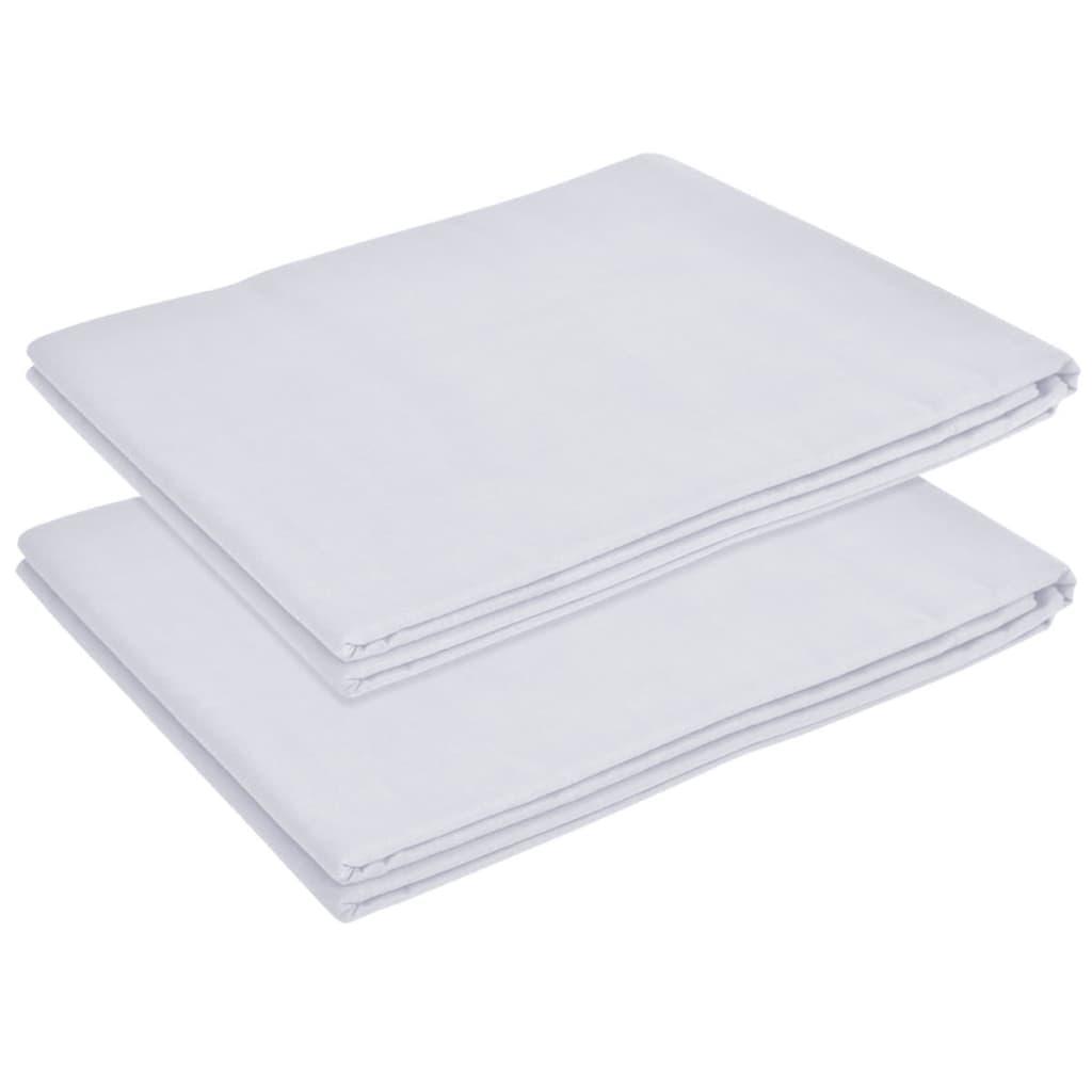vidaXL Prostěradlo na postel 2 ks bavlna 146x260 cm bílá
