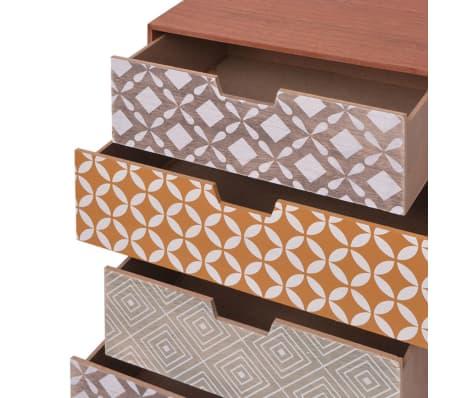 vidaXL Side Cabinet 6 Drawers Brown[5/6]