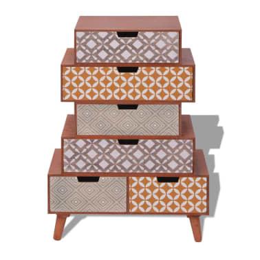vidaXL Side Cabinet 6 Drawers Brown[3/6]