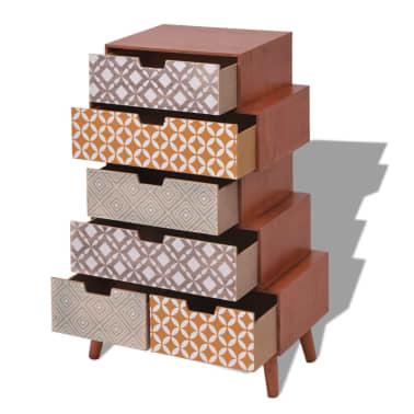vidaXL Side Cabinet 6 Drawers Brown[4/6]