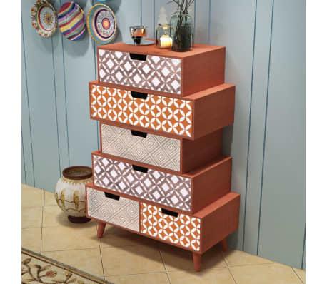 vidaXL Side Cabinet 6 Drawers Brown[1/6]